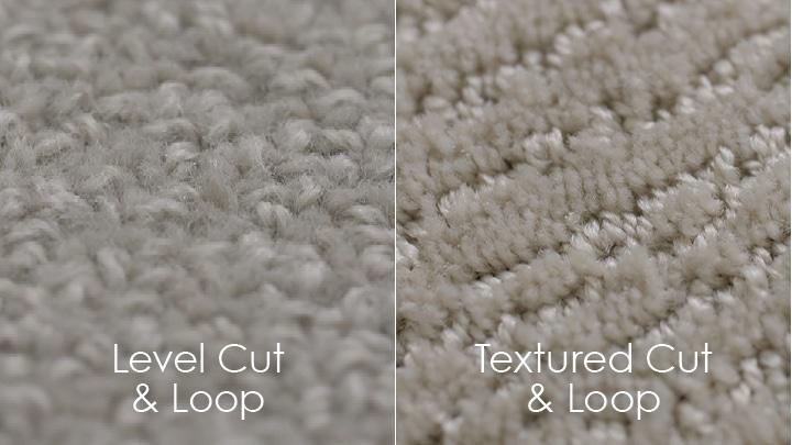 Cut & loop pile carpet styles