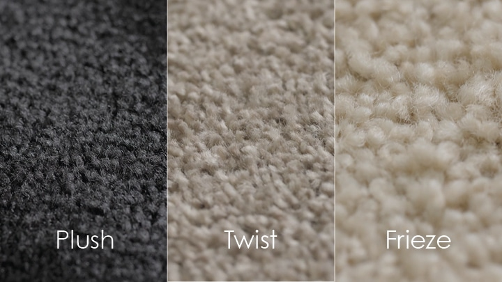 Cut pile carpet styles