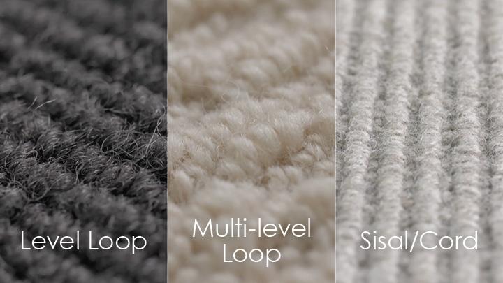 Loop pile carpet styles