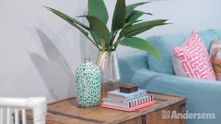Vases and books