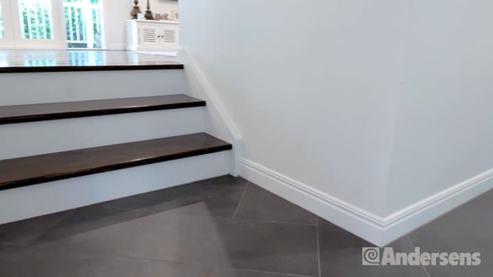 Change in flooring elevation at stairs