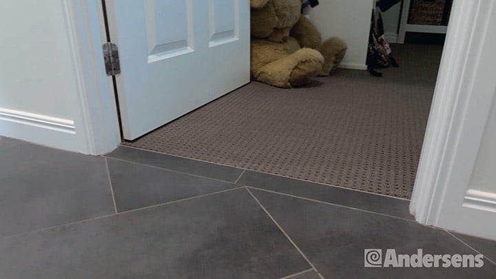 Threshold to room from hallway