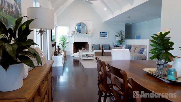 Open plan interior design