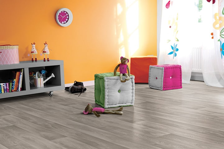 Children's playroom with storage cubbies